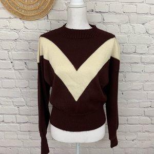 Vintage chevron Maroon sweater